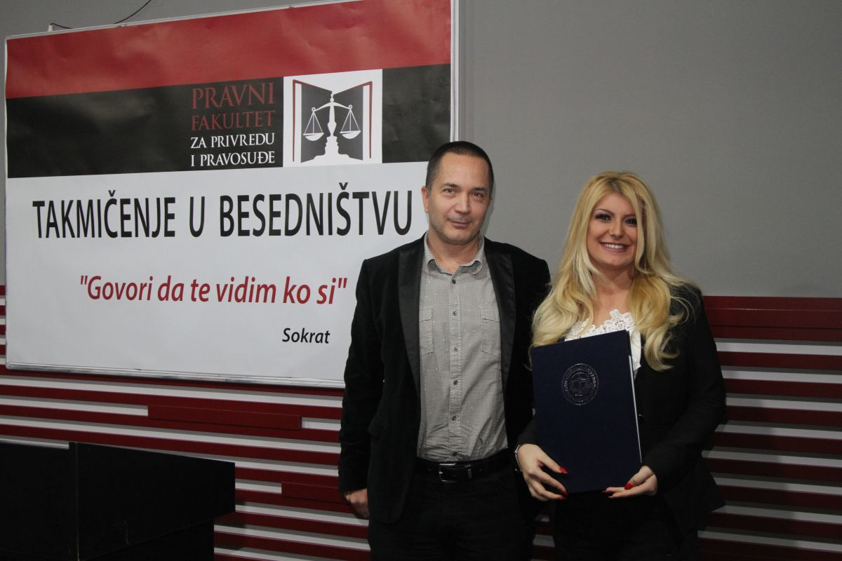 COMPETITION IN PUBLIC SPEAKING AND ORATORY SKILLS  AT THE FACULTY OF LAW FOR COMMERCE AND JUDICIARY IN NOVI SAD